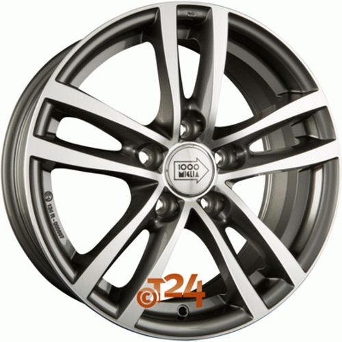 Диск 1000 Miglia MM020 7,0x17 5x112 et46 d66,6 Anthracite Full Polished