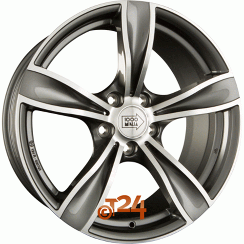 Диск 1000 Miglia MM033 8,5x19 5x120 et33 d72,6 Anthracite Full Polished