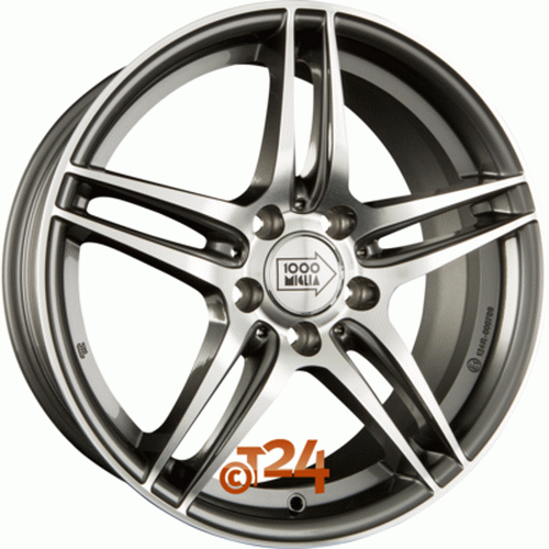 Диск 1000 Miglia MM037 7,5x17 5x112 et47 d66,6 Anthracite Polished