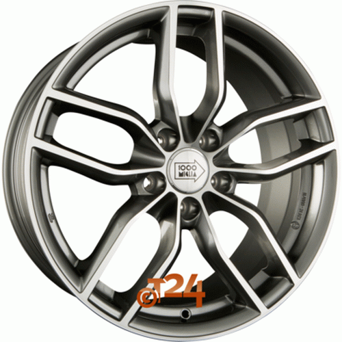 Диск 1000 Miglia MM039 7,5x17 5x112 et28 d66,6 Anthracite Polished