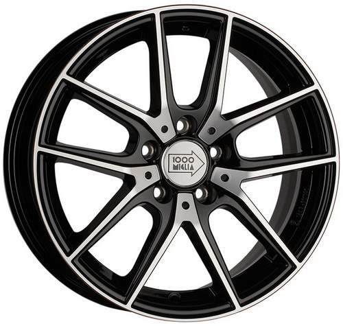 Диск 1000 Miglia MM041 7,5x17 5x112 et45 d57,1 Black Polished