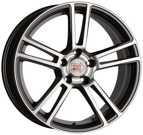 Диск 1000 Miglia MM1002 8,0x18 5x120 et35 d72,6 Dark Anthracite Polished