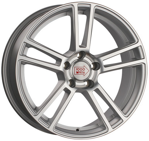 Диск 1000 Miglia MM1002 8,5x19 5x120 et33 d72,6 Matt Silver Polished