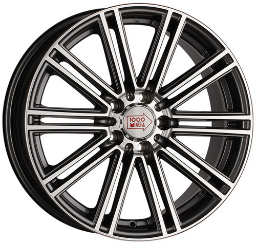Диск 1000 Miglia MM1005 8,5x20 5x114,3 et42 d72,6 Dark Anthracite Polished