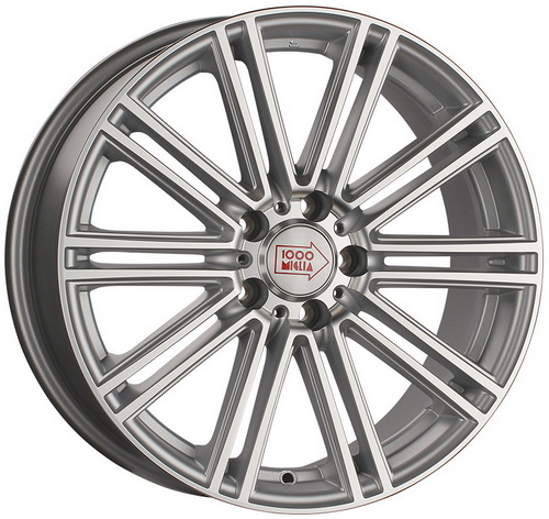Диск 1000 Miglia MM1005 8,5x20 5x112 et32 d66,6 Matt Silver Polished