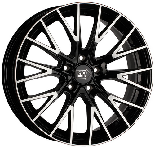 Диск 1000 Miglia MM1009 8,0x18 5x114,3 et40 d67,1 Gloss Black Polished