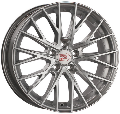 Диск 1000 Miglia MM1009 7,0x17 5x114,3 et50 d67,1 Silver High Gloss