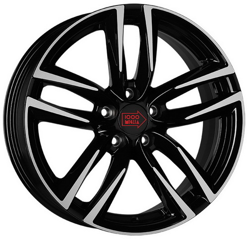 Диск 1000 Miglia MM1011 7,5x17 5x114,3 et45 d67,1 Gloss Black Polished
