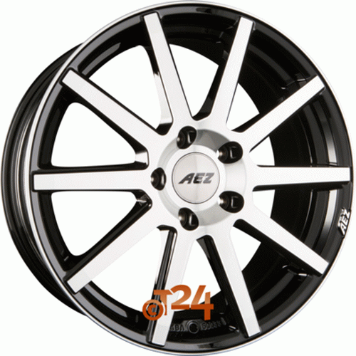 Диск AEZ Straight 8,5x20 5x120 et12 d74,1 Black Polished