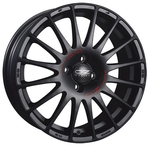 Диск OZ Racing Superturismo GT 8,0x19 5x112 et48 d75,1 Matt Black + Red Lettering